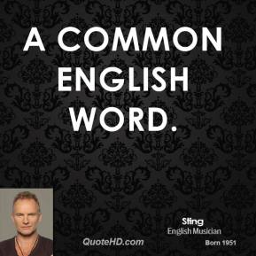 a common English word.