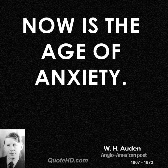 an analysis of the poem the age of anxiety by w h auden