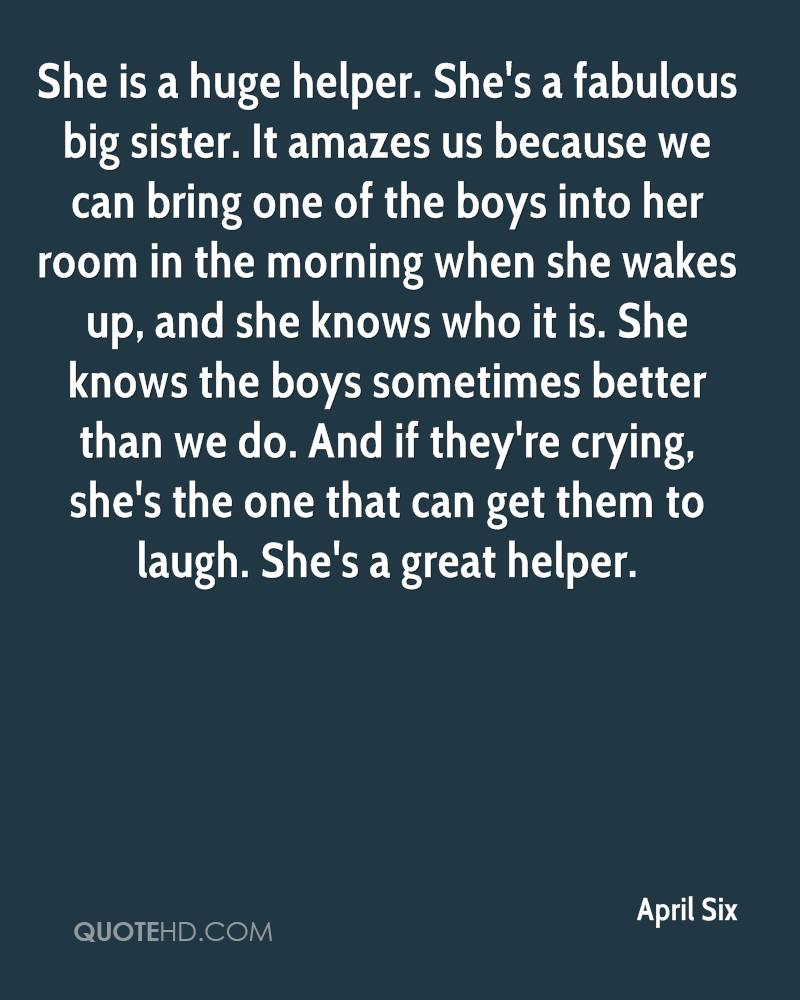 Big sister Quotes - Page 1 | QuoteHD