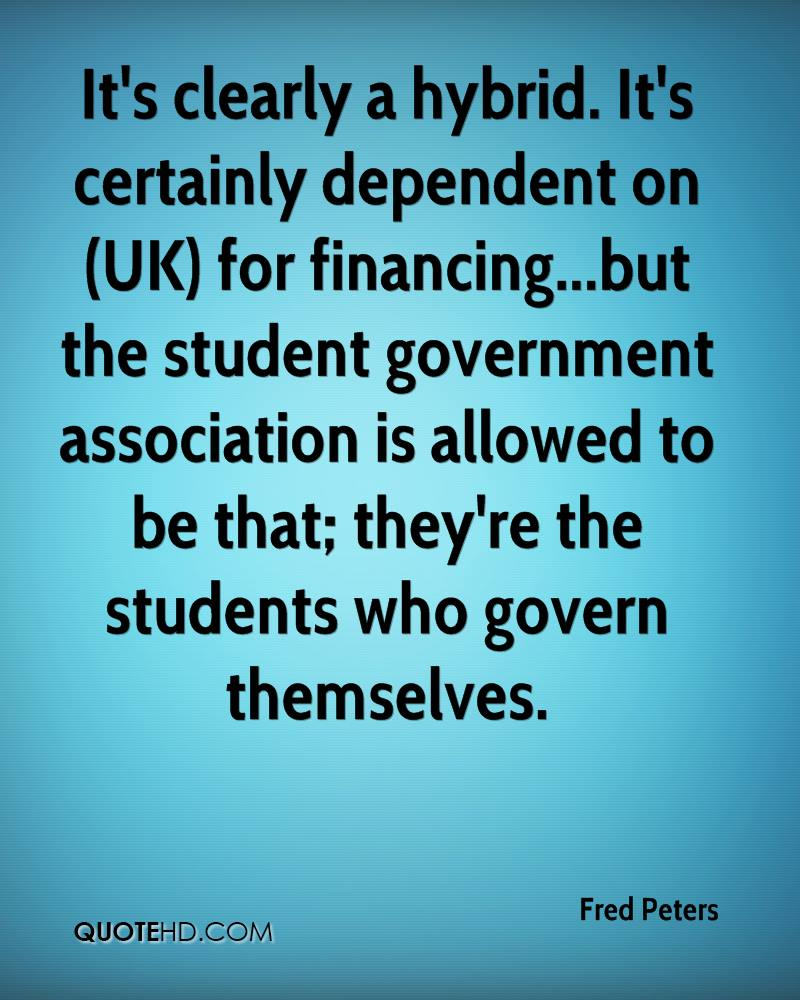 It's clearly a hybrid. It's certainly dependent on (UK) for financing...but the student government association is allowed to be that; they're the students who govern themselves.