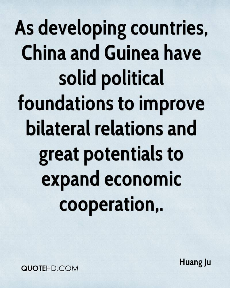 As developing countries, China and Guinea have solid political foundations to improve bilateral relations and great potentials to expand economic cooperation.