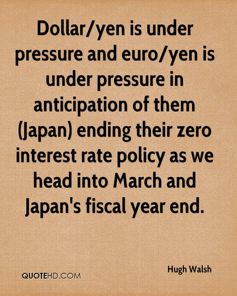 Dollar/yen is under pressure and euro/yen is under pressure in anticipation of them (Japan) ending their zero interest rate policy as we head into March and Japan's fiscal year end.