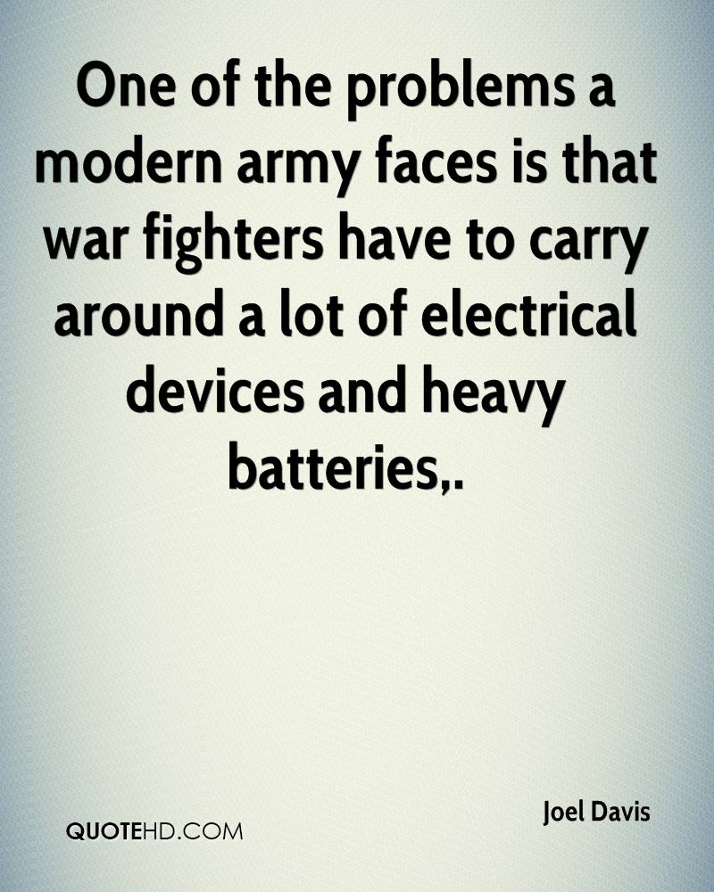 One of the problems a modern army faces is that war fighters have to carry around a lot of electrical devices and heavy batteries.