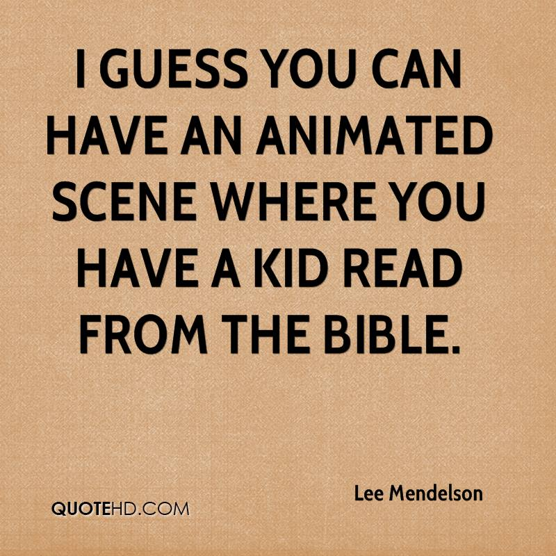I guess you can have an animated scene where you have a kid read from the Bible.
