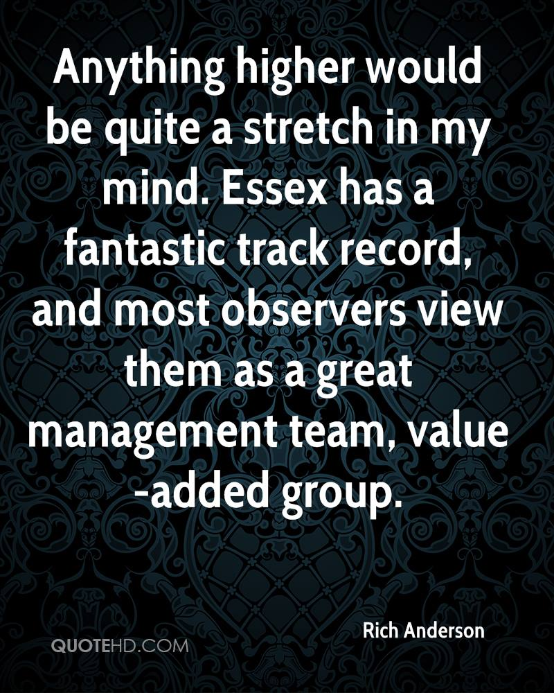Anything higher would be quite a stretch in my mind. Essex has a fantastic track record, and most observers view them as a great management team, value-added group.