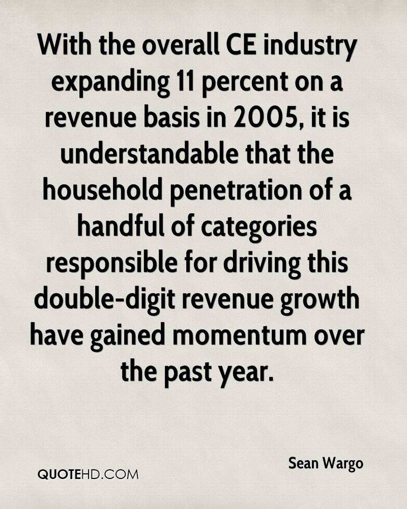 With the overall CE industry expanding 11 percent on a revenue basis in 2005, it is understandable that the household penetration of a handful of categories responsible for driving this double-digit revenue growth have gained momentum over the past year.