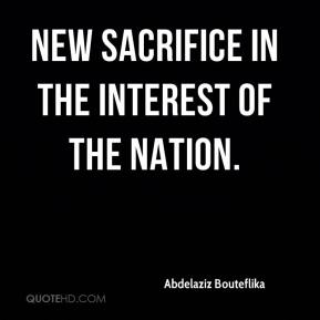new sacrifice in the interest of the nation.