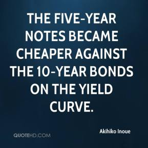 Akihiko Inoue - The five-year notes became cheaper against the 10-year bonds on the yield curve.