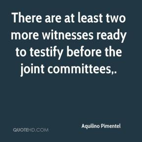 There are at least two more witnesses ready to testify before the joint committees.