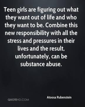 Teen girls are figuring out what they want out of life and who they want to be. Combine this new responsibility with all the stress and pressures in their lives and the result, unfortunately, can be substance abuse.