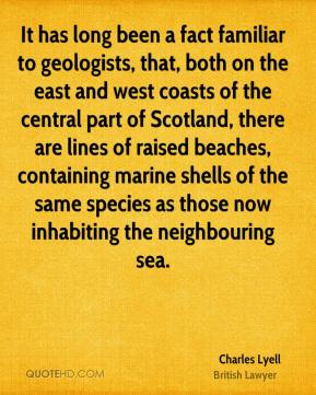 It has long been a fact familiar to geologists, that, both on the east and west coasts of the central part of Scotland, there are lines of raised beaches, containing marine shells of the same species as those now inhabiting the neighbouring sea.
