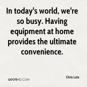 In today's world, we're so busy. Having equipment at home provides the ultimate convenience.