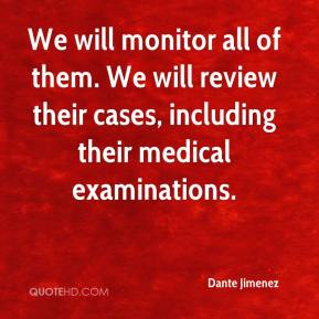 Dante Jimenez - We will monitor all of them. We will review their cases, including their medical examinations.