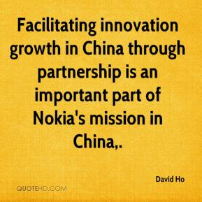 David Ho - Facilitating innovation growth in China through partnership is an important part of Nokia's mission in China.