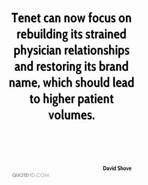 Tenet can now focus on rebuilding its strained physician relationships and restoring its brand name, which should lead to higher patient volumes.
