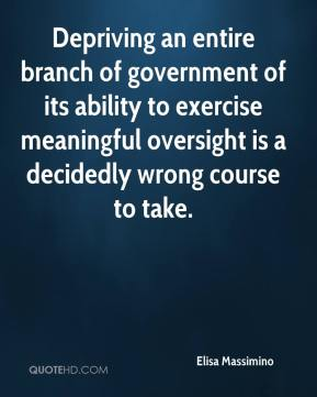 Elisa Massimino - Depriving an entire branch of government of its ability to exercise meaningful oversight is a decidedly wrong course to take.