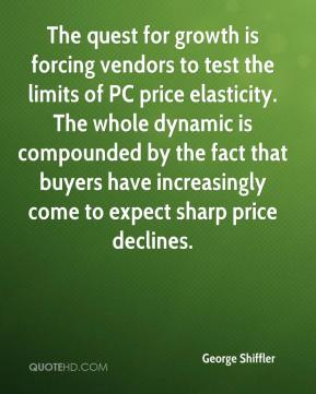 George Shiffler - The quest for growth is forcing vendors to test the limits of PC price elasticity. The whole dynamic is compounded by the fact that buyers have increasingly come to expect sharp price declines.