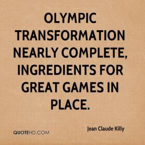 Olympic transformation nearly complete, ingredients for great Games in place.