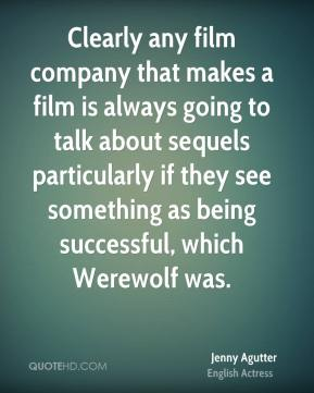 Jenny Agutter - Clearly any film company that makes a film is always going to talk about sequels particularly if they see something as being successful, which Werewolf was.