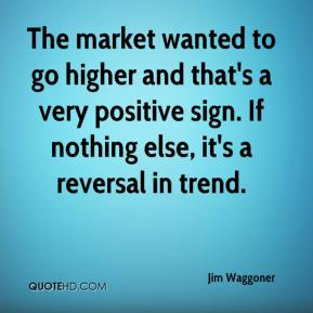 Jim Waggoner  - The market wanted to go higher and that's a very positive sign. If nothing else, it's a reversal in trend.