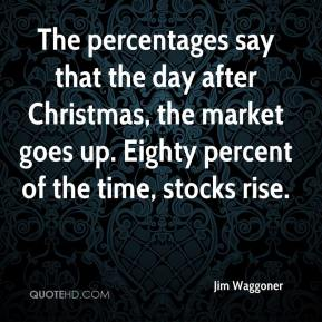 Jim Waggoner  - The percentages say that the day after Christmas, the market goes up. Eighty percent of the time, stocks rise.