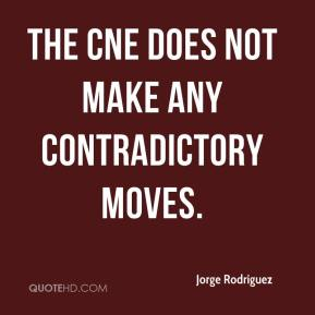Jorge Rodriguez  - The CNE does not make any contradictory moves.