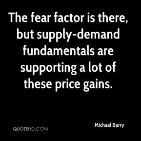 Michael Barry  - The fear factor is there, but supply-demand fundamentals are supporting a lot of these price gains.