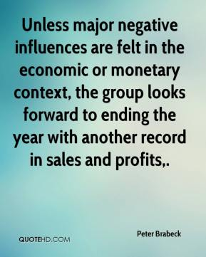 Unless major negative influences are felt in the economic or monetary context, the group looks forward to ending the year with another record in sales and profits.