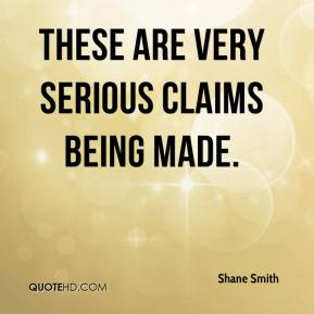 Shane Smith  - These are very serious claims being made.
