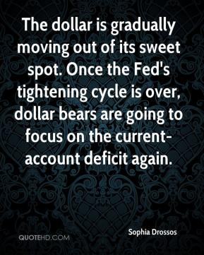 The dollar is gradually moving out of its sweet spot. Once the Fed's tightening cycle is over, dollar bears are going to focus on the current-account deficit again.