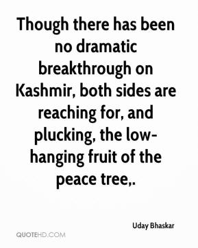 Uday Bhaskar  - Though there has been no dramatic breakthrough on Kashmir, both sides are reaching for, and plucking, the low-hanging fruit of the peace tree.