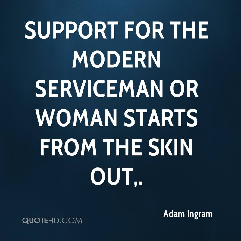 Support for the modern serviceman or woman starts from the skin out.