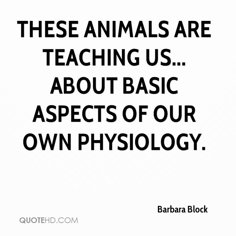 These animals are teaching us... about basic aspects of our own physiology.