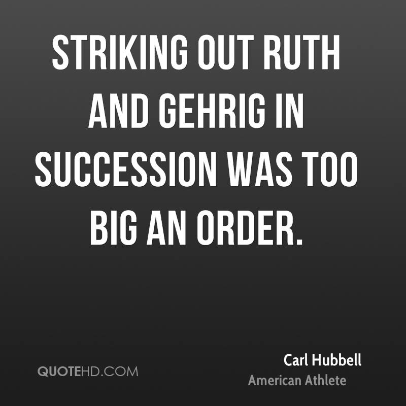 Striking out Ruth and Gehrig in succession was too big an order.