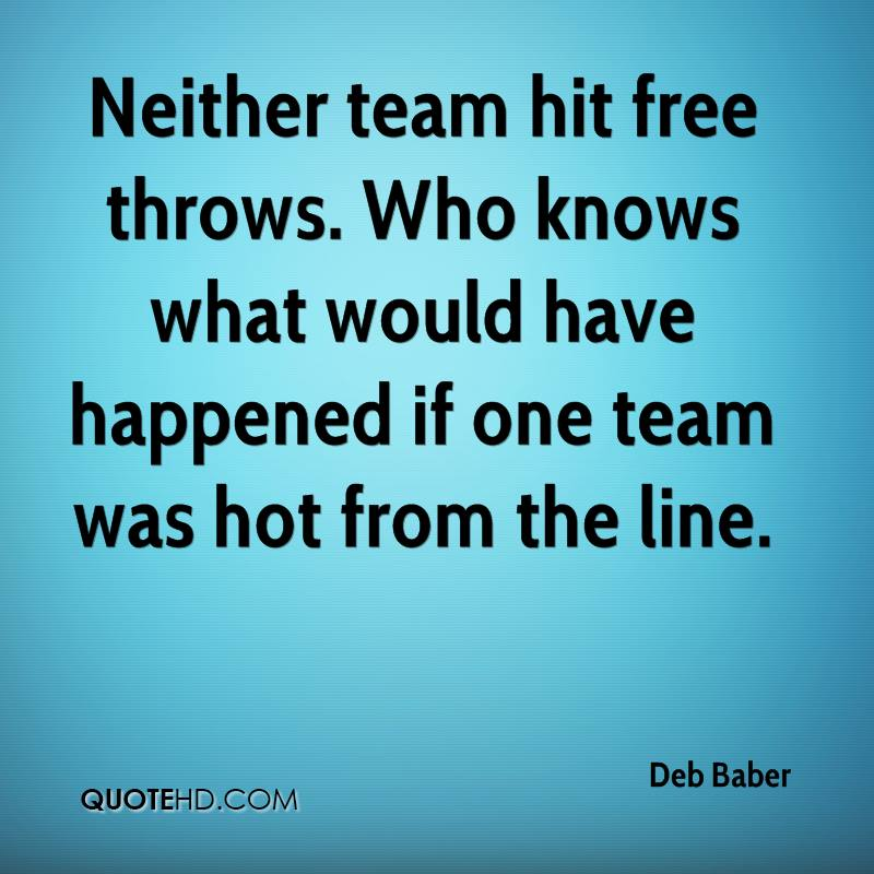 Neither team hit free throws. Who knows what would have happened if one team was hot from the line.