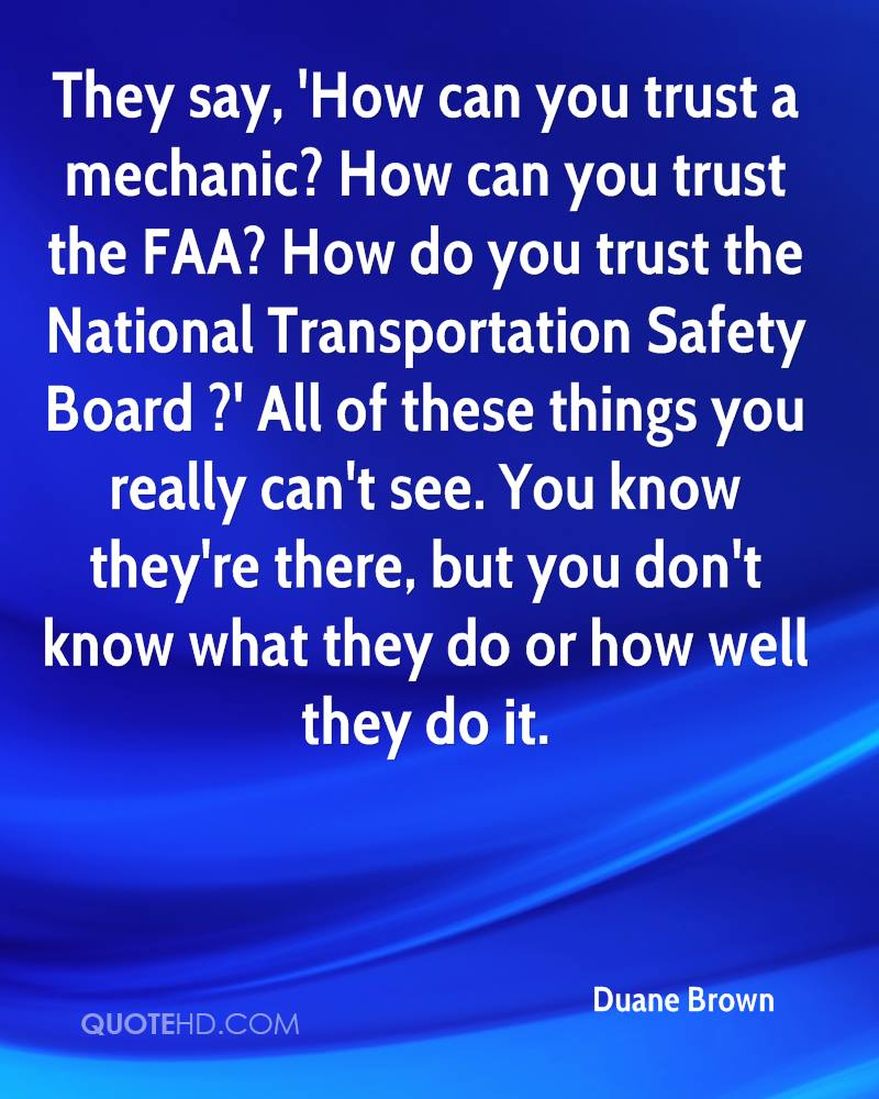 Simple Can You Trust A Mechanic How Can You Trust The FAA How Do You Trust