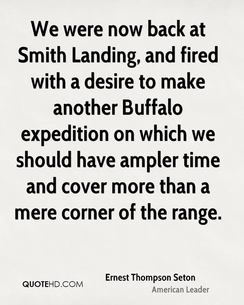 We were now back at Smith Landing, and fired with a desire to make another Buffalo expedition on which we should have ampler time and cover more than a mere corner of the range.