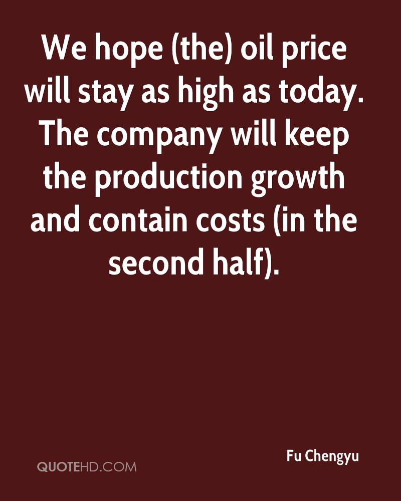 Oil Price Quote Fu Chengyu Quotes  Quotehd
