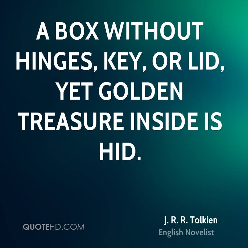 A box without hinges, key, or lid, yet golden treasure inside is hid.
