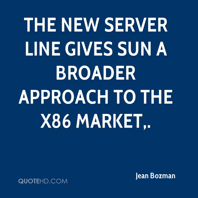 The new server line gives Sun a broader approach to the x86 market.