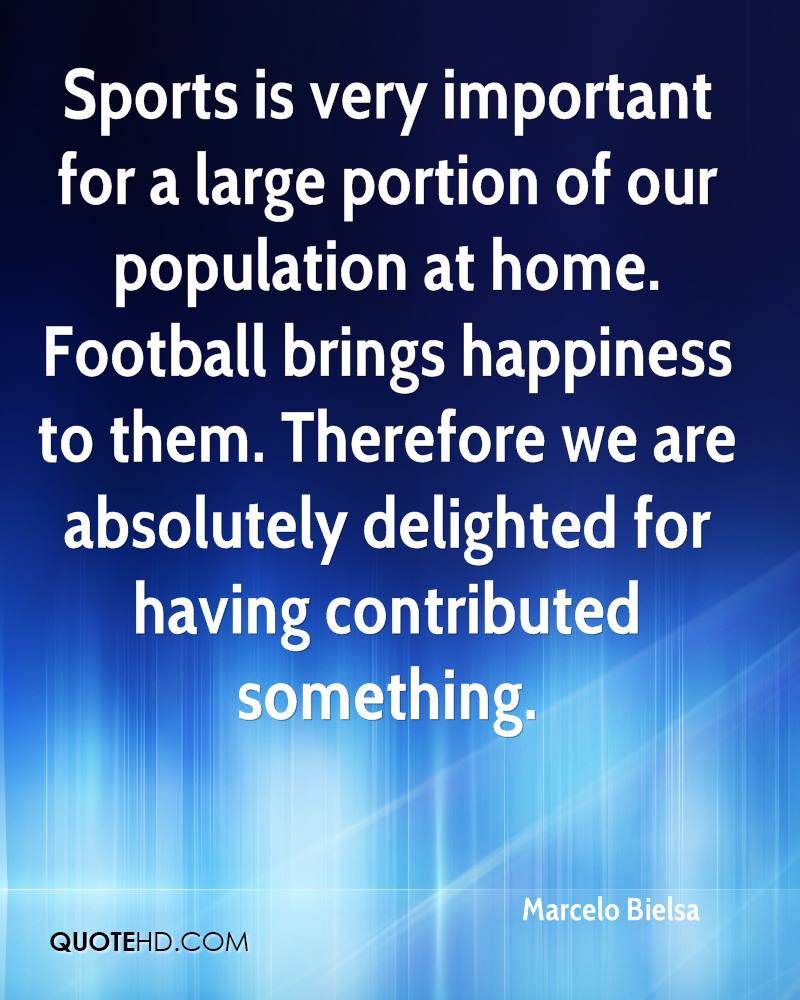 Sports is very important for a large portion of our population at home. Football brings happiness to them. Therefore we are absolutely delighted for having contributed something.