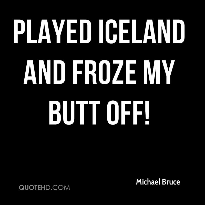 Played Iceland and froze my butt off!