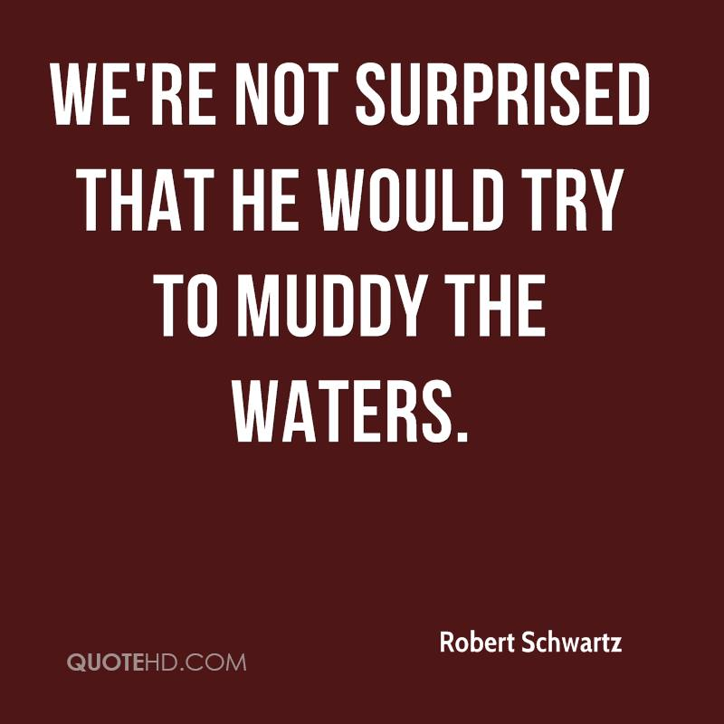 We're not surprised that he would try to muddy the waters.