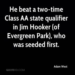 He beat a two-time Class AA state qualifier in Jim Hooker (of Evergreen Park), who was seeded first.