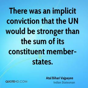 There was an implicit conviction that the UN would be stronger than the sum of its constituent member-states.