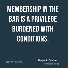 Membership in the bar is a privilege burdened with conditions.