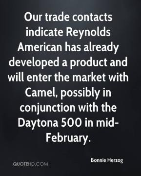 Bonnie Herzog - Our trade contacts indicate Reynolds American has already developed a product and will enter the market with Camel, possibly in conjunction with the Daytona 500 in mid-February.