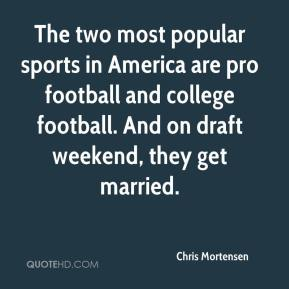 The two most popular sports in America are pro football and college football. And on draft weekend, they get married.