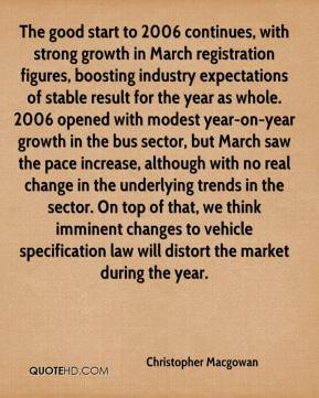 The good start to 2006 continues, with strong growth in March registration figures, boosting industry expectations of stable result for the year as whole. 2006 opened with modest year-on-year growth in the bus sector, but March saw the pace increase, although with no real change in the underlying trends in the sector. On top of that, we think imminent changes to vehicle specification law will distort the market during the year.