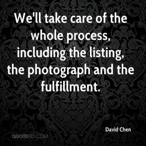 David Chen - We'll take care of the whole process, including the listing, the photograph and the fulfillment.